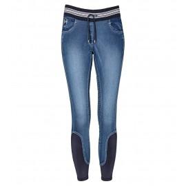 Lovagló Legging Jeans, black-forest