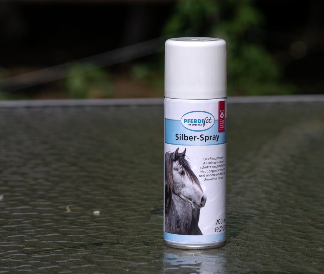 Ezüst-/alumínium spray, Loesdau PFERDEfit